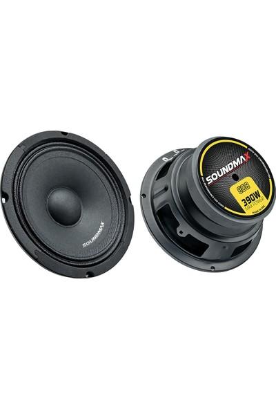 Soundmax Sx-Eg8 20 Cm Midrange Max Power 390W 2'Li Takım Oto Hoparlör