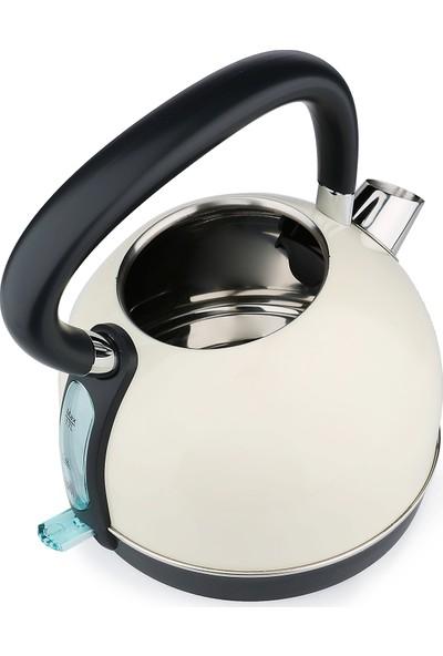 Fakir Goldie 1,7 lt 2200 W Paslanmaz Çelik Su Isıtıcı - Krem