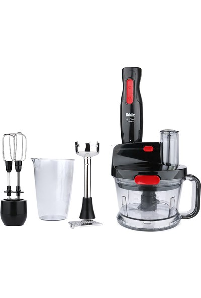 Fakir Mr. Chef Quadro Siyah 1000W Blender Seti