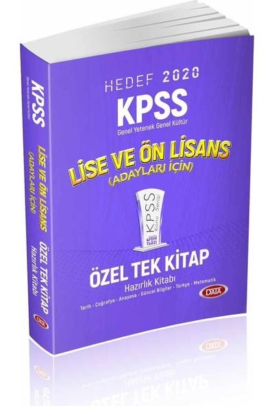 Data Yayınları 2020 KPSS Lise Ve Ön Lisans Özel Tek Kitap