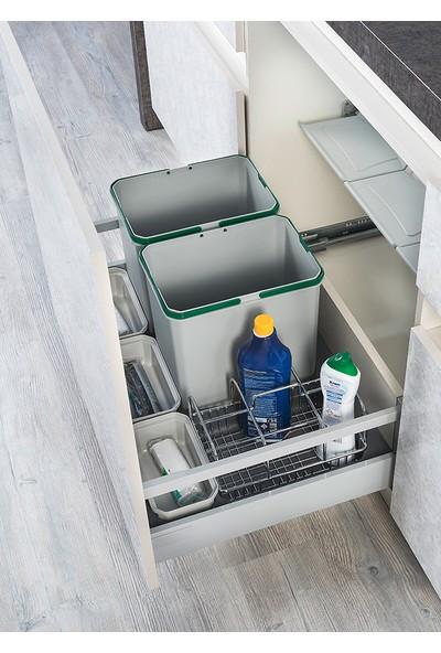Starax S-2557 Çekmece Içi Taşınabilir Kovalı Çöp Kovası + Deterjanlık