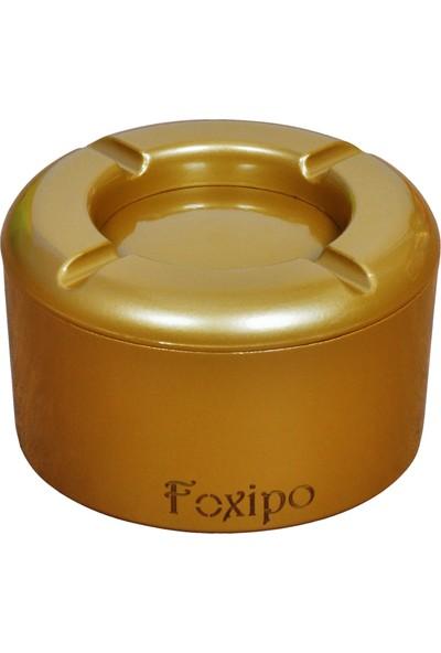 Foxipo Döner Kül Tablası - Altın Rengi Yuvarlak Model