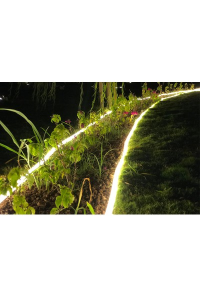 Ekoplas Power Edge Hortum LED Takılabilir Esnek Plastik Çim Sınırlayıcı Şeffaf 10 M