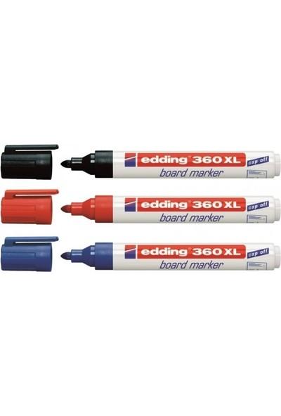 Edding 360 Xl Tahta Kalemi Siyah-Mavi-Kırmızı 3'lü Paket