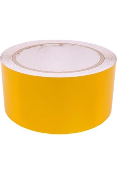 Mfk Plastik Reflektif Bant, Reflektif Şerit 5 cm x 46 M Sarı
