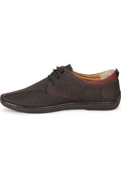 Bay Pablo F30 Siyah Deri Erkek Ayakkabı + Çorap