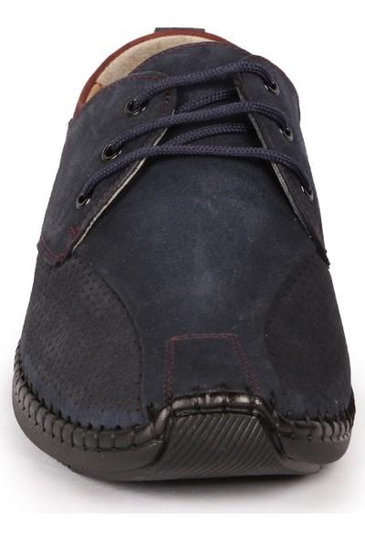 Bay Pablo F30 Lacivert Deri Erkek Ayakkabı + Çorap