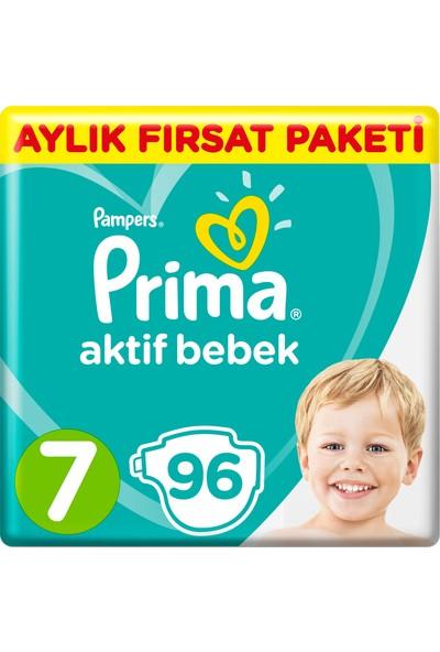 Prima Bebek Bezi Aktif Bebek 7 Bed XX Large Süper Fırsat Paketi 96 Adet