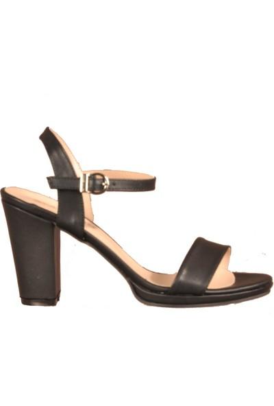 Ayakmod 500 Siyah Kadın Topuklu Ayakkabı