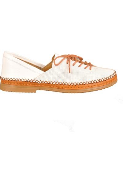 Roe & Doe 2606 Beyaz Kadın Günlük Ayakkabı