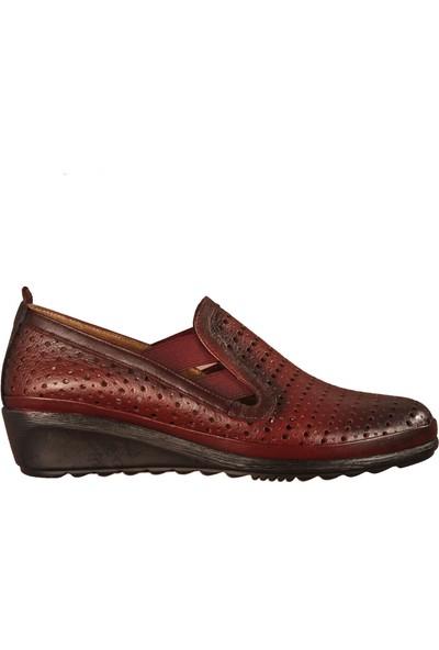 Ayakmod 806 Bordo Kadın Günlük Ayakkabı