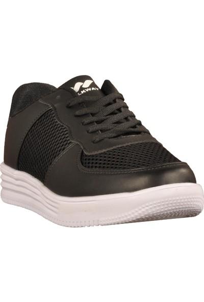 Walkway 651 Fileli Siyah Erkek Spor Ayakkabı