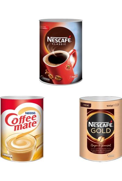 Nescafe Classic 1000 gr + Nescafe Gold 900 gr + Nestle Coffee Mate 2000 gr