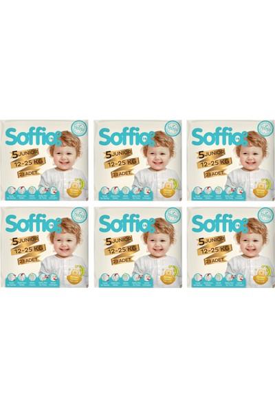 Soffio Bebek Bezi 5 Numara 6 x 23=138 Adet Bez 6'lı Paket 12-25 kg