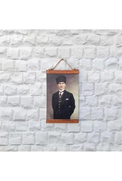 Tahta Dekor Atatürk Portresi Ahşap Dekoratif Duvar Panosu