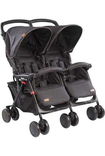 Kraft Pair Ikiz Yan Yana Bebek Arabası Siyah