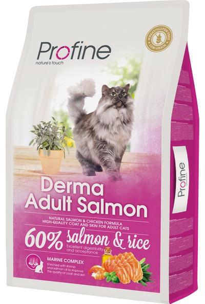 Profine Derma Somonlu Yetişkin Kedi Maması 10 kg + 2 Adet Kedi Ödülü