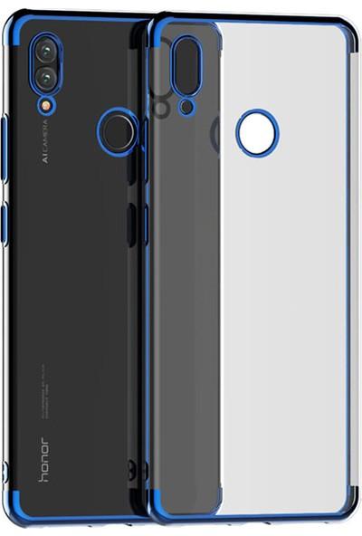 Microcase Huawei Honor 8X Max Plating Series Silikon Kılıf Mavi