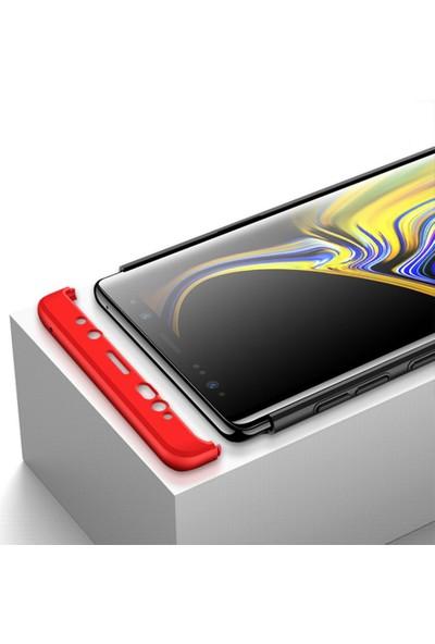 Microcase Samsung Galaxy Note 9 Tam Koruma Kapak 360 Derece Kılıf Kırmızı-Siyah