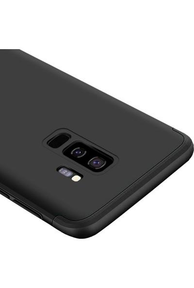 Microcase Samsung Galaxy S9 Plus Tam Koruma Kapak 360 Derece Kılıf Siyah