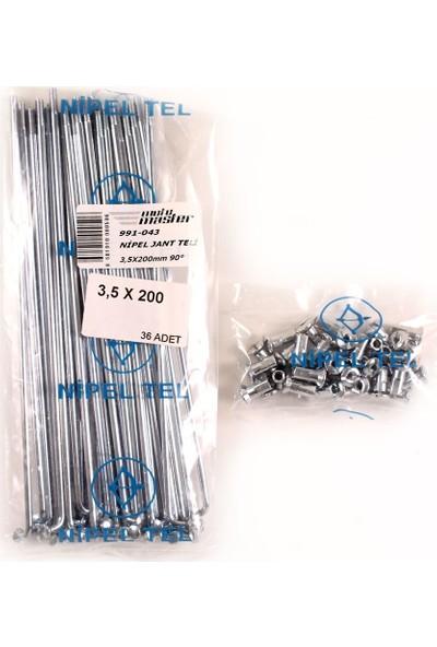 Nipel Nipel Jant Teli 3,5X200MM 90°-Seyyar 17(Paket Fiya