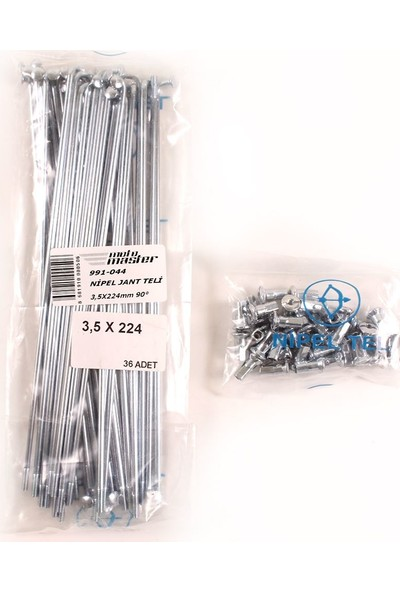 Nipel Çin / Tr Menşeli Enduro Nipel Jant Teli 3,5.224MM 90°-Yamaha Kros(Paket Fi