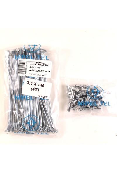Nipel Nipel Jant Teli 3,5X145MM 45°-Ceylan 350(PAKET Fiy