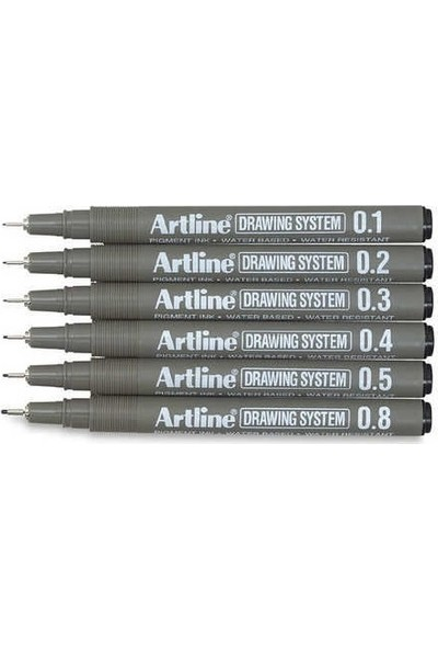 Artline Drawing System Teknik Çizim Kalemi 6'lı Set
