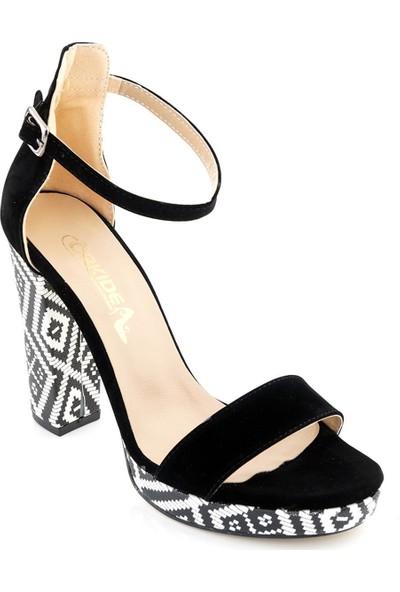 Ayakkabı Tarzım Siyah Kadın Topuklu Ayakkabı ORKD637