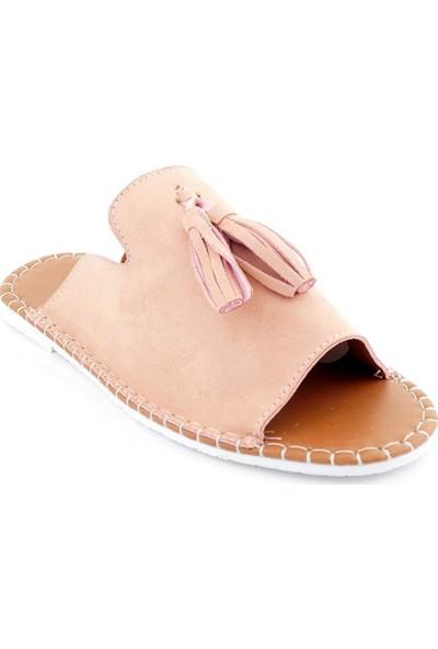 Ayakkabı Tarzım Pudra Kadın Terlik BBYLN656