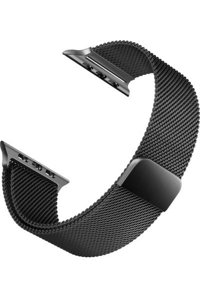 Microsonic Apple Watch 3 42 mm Milanese Loop Version 3 Kordon Siyah