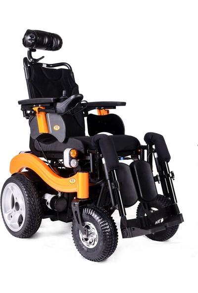 Poylin P288 Elektrikli Ayak Kalkar ve Sırt Yatarlı Akülü Tekerlekli Sandalye