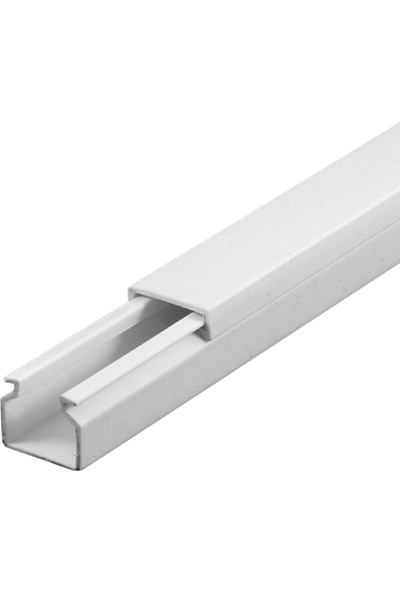 A Plus Elektrik 12x12 mm Beyaz 10x1m=10m Bantsız Kablo Kanalı