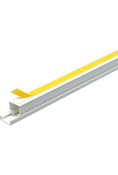 A Plus Elektrik 12x12 mm Güçlü Yapışkan Bantlı Beyaz 10x1m=10m Kablo Kanalı