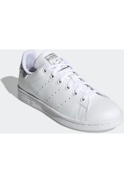 Adidas Genç Günlük Ayakkabı Spor Beyaz Ee8483 Stan Smith J