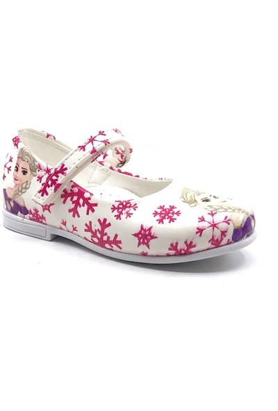 Sema Kids Bebe Beyaz Cırtlı Babet Ayakkabı