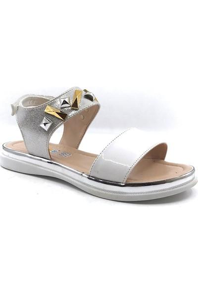 Vetta Beyaz Kristal Kız Çocuk Sandalet
