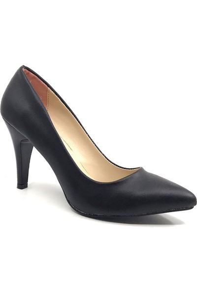Ceylan Cv300 Siyah Cilt Kadın Stiletto Ayakkabısı