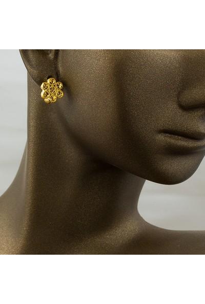 Label Jewelry Papatya Taşsız 22 Ayar Altın Je Küpe