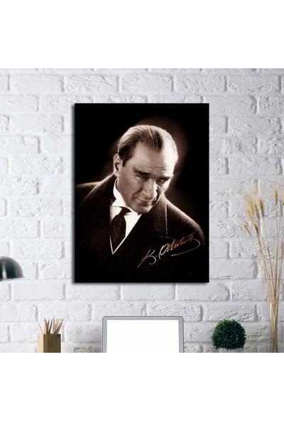 Tablosan İmzalı Atatürk Portresi Kanvas Tablo