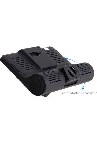 """Gringo Ae Fhd 4""""Ekran 1080P 3 Kameralı Araç İçi Güvenlik Kamerası"""