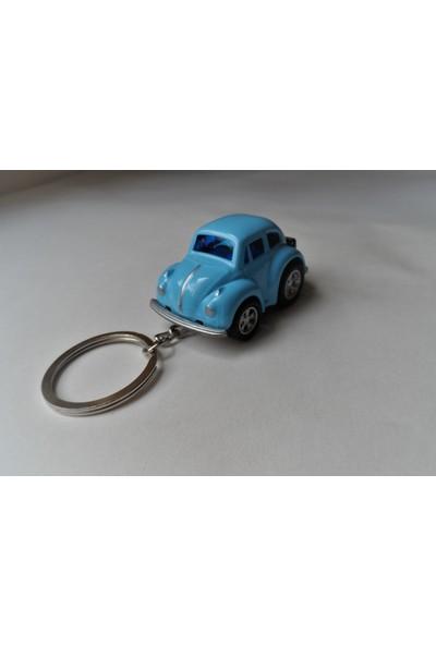 Hediye Aşkı Kişiye İsme Özel Mavi Plakalı Metal Vosvos Anahtarlık Beetle Volkswagen M