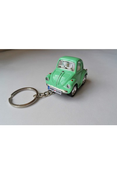Hediye Aşkı Kişiye İsme Özel Yeşil Plakalı Metal Vosvos Anahtarlık Beetle Volkswagen