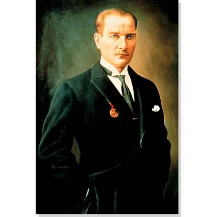 Atatürk Gazi Mustafa Kemal Atatürk Temalı Kanvas Tablo 75*150 cm Wandtattoos & Wandbilder
