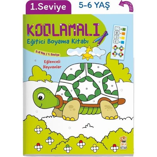 Kodlamali Egitici Boyama Kitabi Eglenceli Hayvanlar 5 6 Fiyati