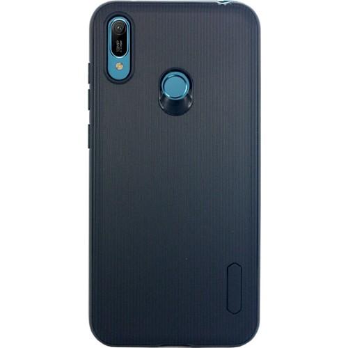 Case 4U Huawei Y6 Prime 2019 Kılıf Mat Silikon Çizgili Tio Arka Kapak Lacivert