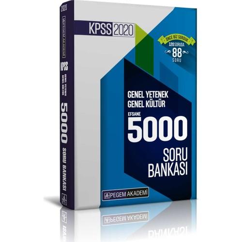 Pegem Akademi 2020 KPSS Genel Yetenek Genel Kültür Efsane 5000 Soru Bankası