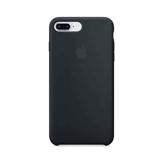 Casethrone Apple iPhone 8 Plus Lansman Siyah Silikon Kılıf Kauçuk Arka Kapak