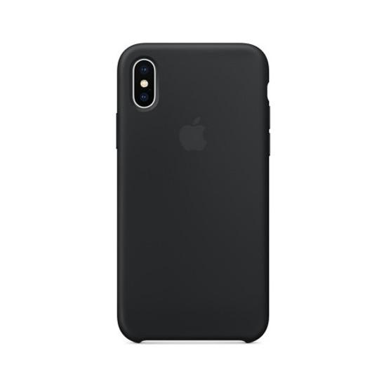 Casethrone Apple iPhone X / Xs Lansman Siyah Silikon Kılıf Kauçuk Arka Kapak