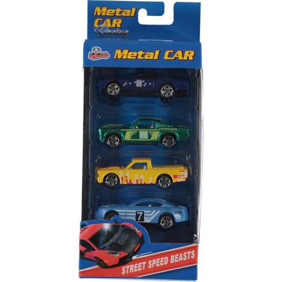 Vardem Oyuncak Metal Araba Seti 4 Parça